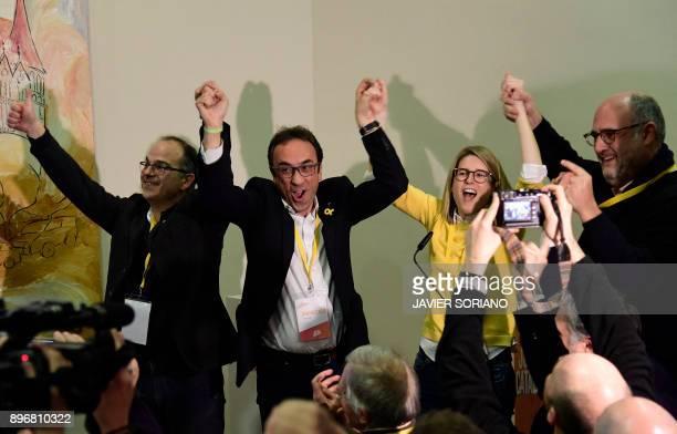 'Junts per Catalonia' JUNTSXCAT grouping candidates Jordi Turull deposed Catalan regional government Territory and Sustainability chief Josep Rull...