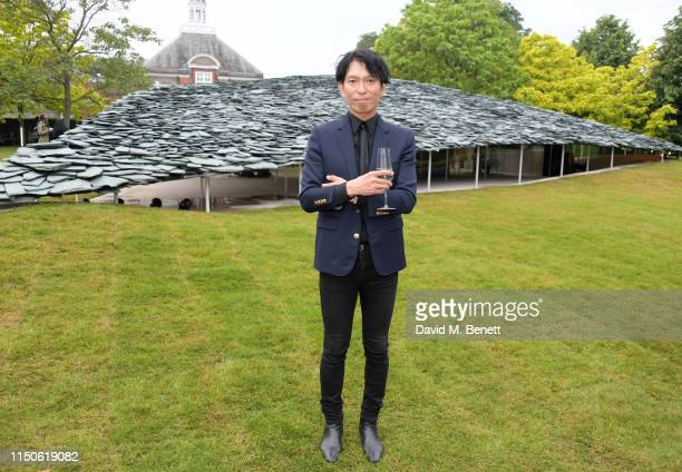 Junya Ishigami attends a preopening drinks reception celebrating the 2019 Serpentine Pavilion designed by Junya Ishigami at The Serpentine Gallery on...
