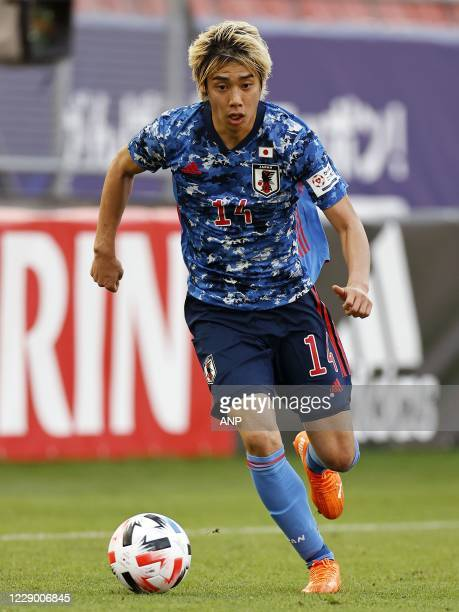 Junya Ito of Japan during the friendly match between Japan and Cameroon at Stadion Galgenwaard on October 09, 2020 in Utrecht, Netherlands. ANP...