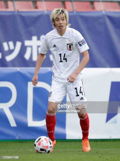 Junya Ito of Japan during the International Friendly match between Japan v Ivory Coast at the Stadium Glagenwaard on October 13, 2020 in Utrecht...