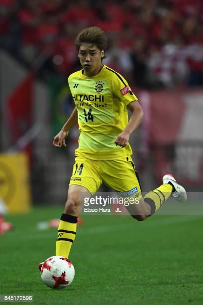 Junya Ito of Kashiwa Reysol in action during the JLeague J1 match between Urawa Red Diamonds and Kashiwa Reysol at Saitama Stadium on September 9...