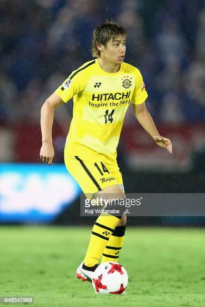 Junya Ito of Kashiwa Reysol in action during the JLeague J1 match between Yokohama FMarinos and Kashiwa Reysol at Nissan Stadium on September 16 2017...