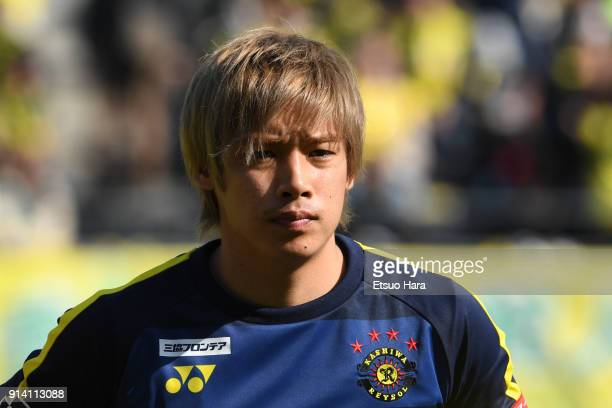 Junya Ito of Kashiwa Reysol looks on prior to the preseason friendly match between JEF United Chiba and Kashiwa Reysol at Fukuda Denshi Arena on...