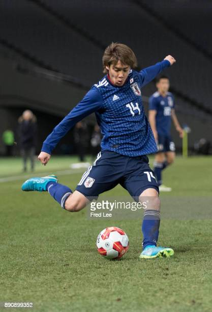 Junya of Japan in action during the EAFF E1 Men's Football Championship between Japan and China at Ajinomoto Stadium on December 12 2017 in Chofu...