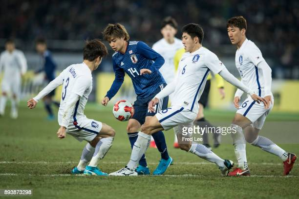 Junya of Japan in action during the EAFF E1 Men's Football Championship between Japan and South Korea at Ajinomoto Stadium on December 16 2017 in...