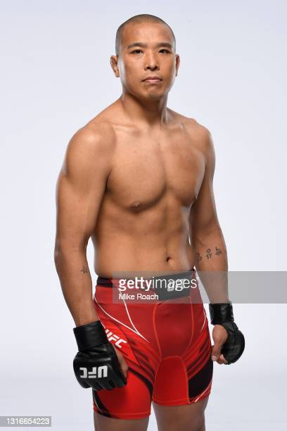 Junyong Park poses for a portrait during a UFC photo session on May 5, 2021 in Las Vegas, Nevada.