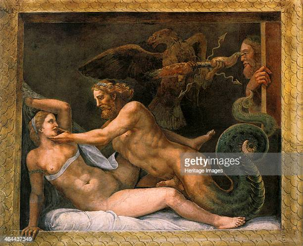 Jupiter and Olympia 15261534 Found in the collection of the Palazzo Te Mantua