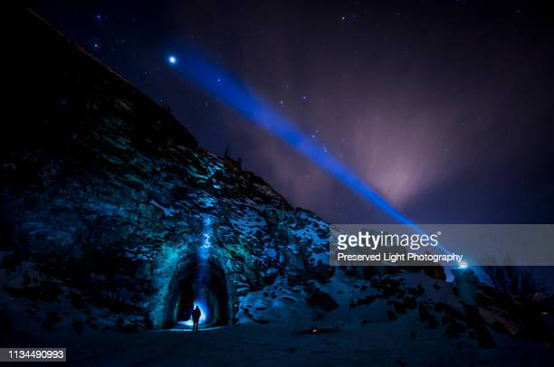 jupiter and stars, kettle valley rail trail,  naramata, british columbia, canada - thompson okanagan region british columbia stock pictures, royalty-free photos & images