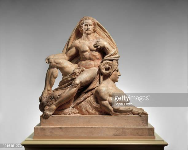 Jupiter and the Sphinx French, Paris, Tinted plaster, Overall : 46 _ 44 1/8 _ 23 3/4 in. , Sculpture, Auguste Preault , This group is the sculptor's...