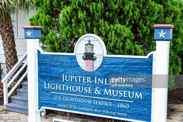 Jupiter Inlet Lighthouse And Museum entrance sign.