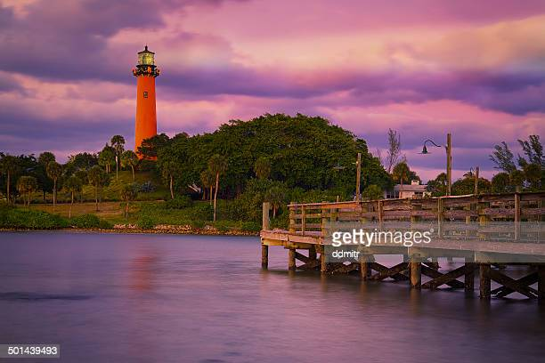 jupiter inlet lighthouse - jupiter florida stock pictures, royalty-free photos & images