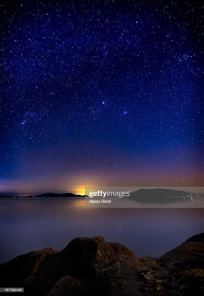 Jupiter over Wildcat Cove : Stock Photo