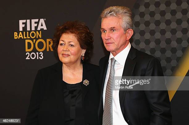 Jupp and Iris Heynckes arrive during the FIFA Ballon d'Or Gala 2013at the Kongresshalle on January 13 2014 in Zurich Switzerland