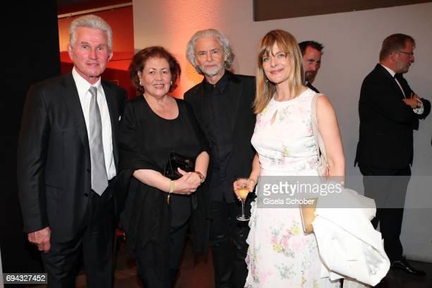 Jupp Heynckes and his wife Iris Heynckes, Hermann Buehlbecker and Nastassja Kinski during the Toni Kroos charity gala benefit to the Toni Kroos...