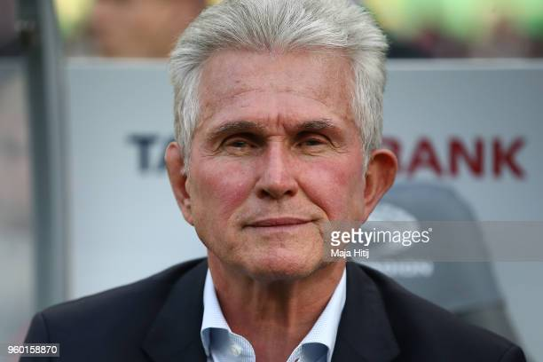 Jupp Heynckes head coach of Bayern Muechen looks on during the DFB Cup final between Bayern Muenchen and Eintracht Frankfurt at Olympiastadion on May...
