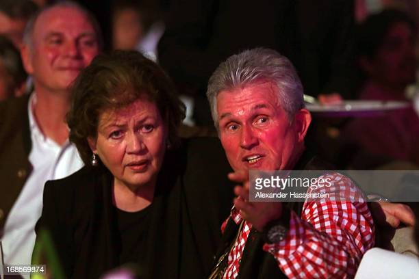 Jupp Heynckes head coach of Bayern Muenchen celebrates with his wife Iris Heynckes during the Official Champion dinner at Postpalast on May 12 2013...