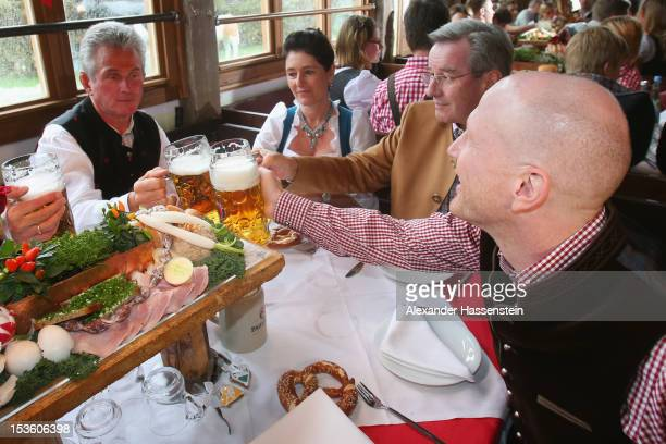 Jupp Heynckes head coach of FC Bayern Muenchen attends with Matthias Sammer sporting director of FC Bayern Muenchen the Oktoberfest beer festival at...