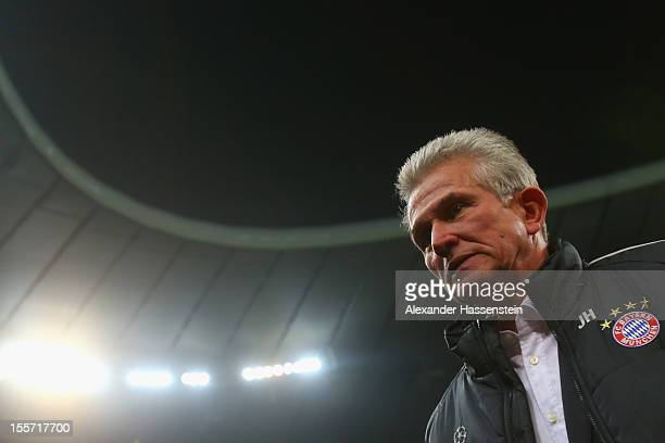 Jupp Heynckes, head coach of Muenchen looks on prior the UEFA Champions League group F match between FC Bayern Muenchen and LOSC Lille at Allianz...