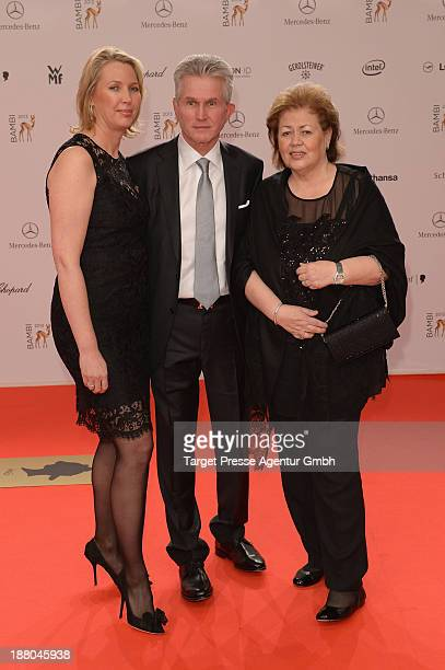 Jupp Heynckes his wife Iris and his daughter Kerstin Heynckes attend the Bambi Awards 2013 at Stage Theater on November 14 2013 in Berlin Germany