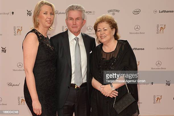 Jupp Heynckes his wife Iris Heynckes and his daughter Kerstin Heynckes attend the Bambi Awards 2013 at Stage Theater on November 14 2013 in Berlin...