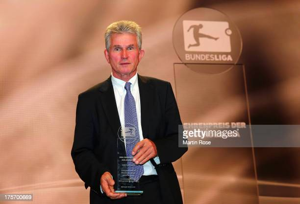 Jupp Heynckes is awarded with the prize of the Bundesliga during the 50 Years of Bundesliga Gala at Estrel Hotel on August 6 2013 in Berlin Germany