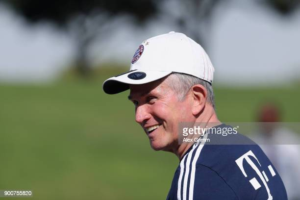 Jupp Heynckes Jupp Heynckes smiles during a training session on day 2 of the FC Bayern Muenchen training camp at ASPIRE Academy for Sports Excellence...