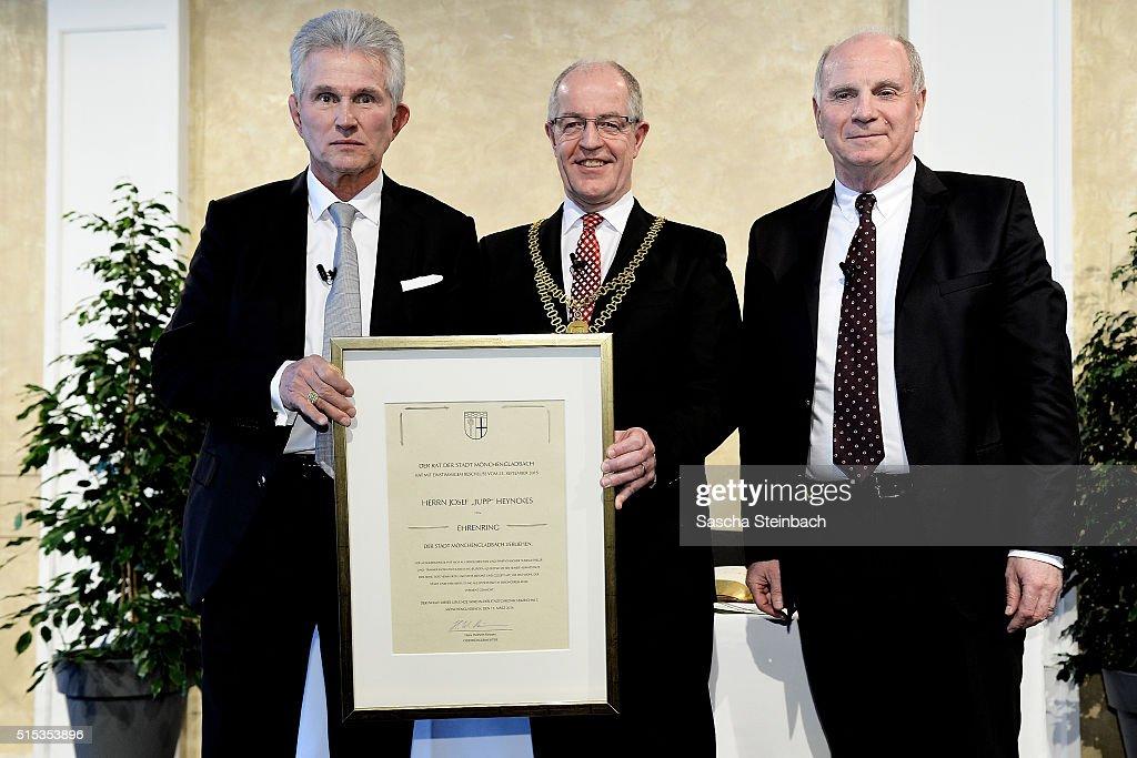 Jupp Heynckes Receives Moenchengladbach's Golden Ring