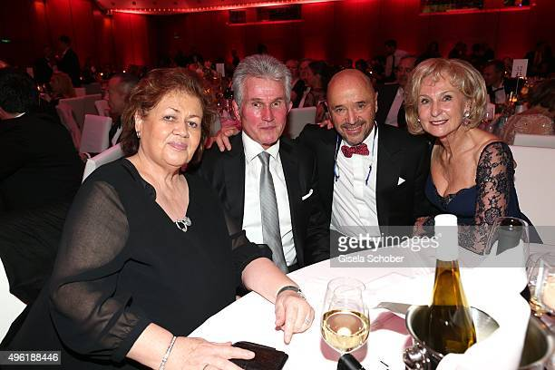Jupp Heynkes and his wife Iris Heynkes Christian Neureuther and Karin Stoiber during the German Sports Media Ball at Alte Oper on November 7 2015 in...
