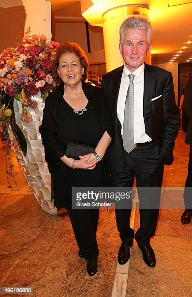Jupp Heynkes and his wife Iris Heynkes during the German Sports Media Ball at Alte Oper on November 7 2015 in Frankfurt am Main Germany
