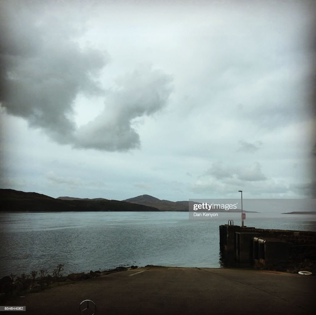 jura ferry terminal heart in clouds scotland stock photo | getty images