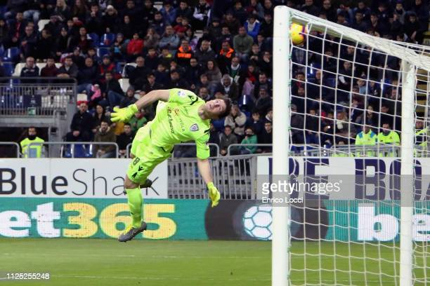 Juraj Kucka of Parma scores his goal 01 during the Serie A match between Cagliari and Parma Calcio at Sardegna Arena on February 16 2019 in Cagliari...