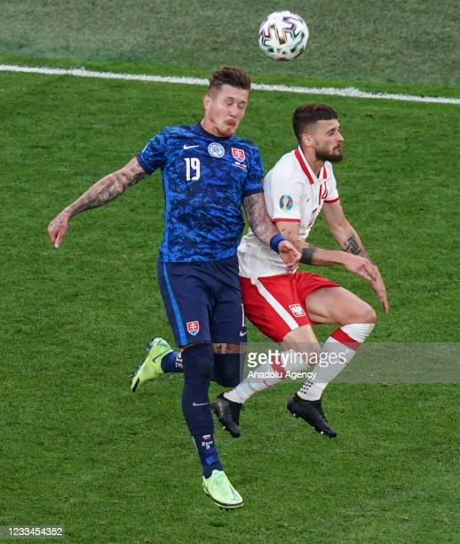 Juraj Kucka of Slovakia in action during EURO 2020 Group E soccer match between Poland and Slovakia at Krestovsky Stadium in Saint Petersburg, Russia...