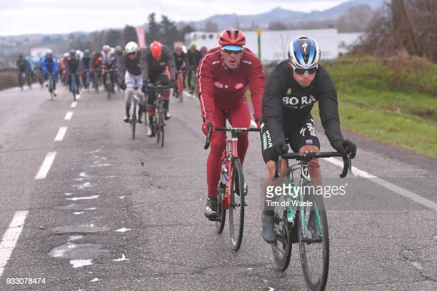 Juraj Sagan of Slovakia and Team BoraHansgrohe / during the 109th MilanSanremo 2018 a 291km race from Milan to Sanremo on March 17 2018 in Sanremo...