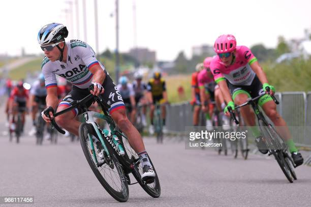 Juraj Sagan of Slovakia and Team BoraHansgrohe / during the 3rd Velon Hammer Series 2018 Stage 2 a 992km race from Tom Dumoulin Bike Park to Tom...