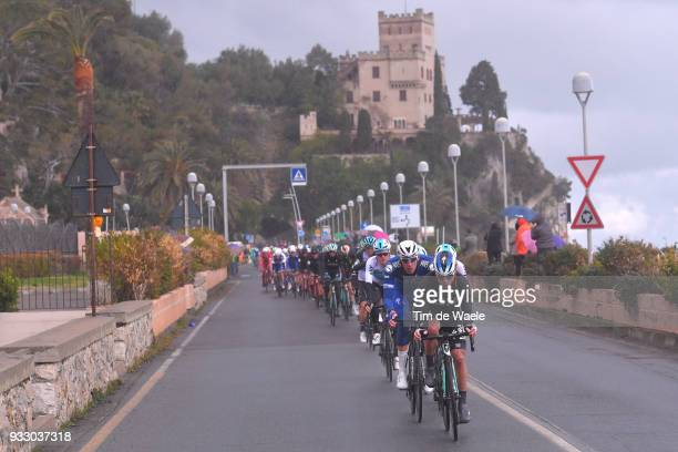 Juraj Sagan of Slovakia and Team BoraHansgrohe / Tim Declercq of Belgium and Team QuickStep Floors / Peloton / during the 109th MilanSanremo 2018 a...