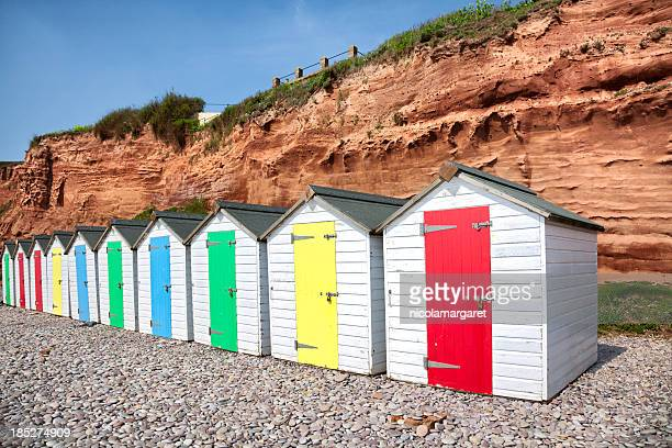 Jurassic Coast beach huts, Budleigh, Devon