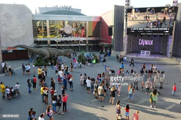 Jurassic Park fans attend an advanced screening of Jurassic World Fallen Kingdom at Universal CityWalk on June 21 2018 in Universal City California