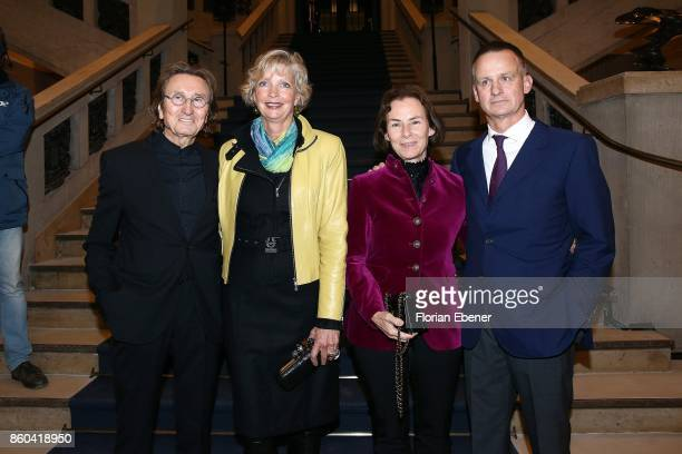 Jurek Slapa Sabine Stecher Manuela Schmitz and Uwe Schmitz attend the Housewarming Party at Andreas Quartier GmbH on October 11 2017 in Duesseldorf...