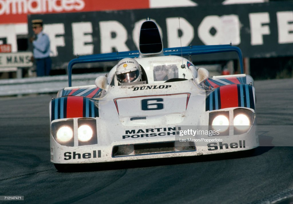 Jurgen Barth of Germany driving the #6 Porsche 936/78 for the Martini Racing Porsche System to a 2nd place finish during the FIA World Challenge for Endurance Drivers 24 Hours of Le Mans race on 11th June 1978 at the Circuit de la Sarthe in Le Mans, France.
