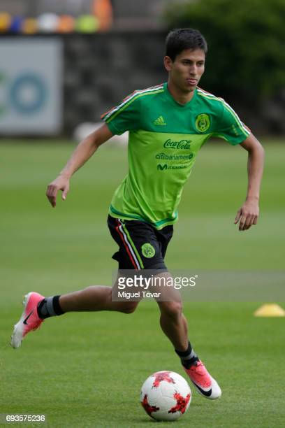 Jurgen Damm controls the ball during a Mexico national team training session at CAR on June 07 2017 in Mexico City Mexico