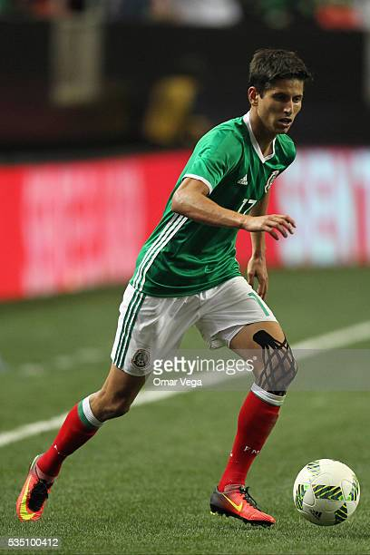 Jurgen Damm of Mexico drives the ball during the International Friendly between Mexico and Paraguay at Georgia Dome on May 28 2016 in Atlanta Georgia