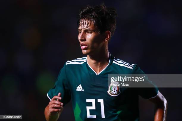 Jurgen Damm of Mexico looks on during the international friendly match between Mexico and Costa Rica at Universitario Stadium on October 11, 2018 in...