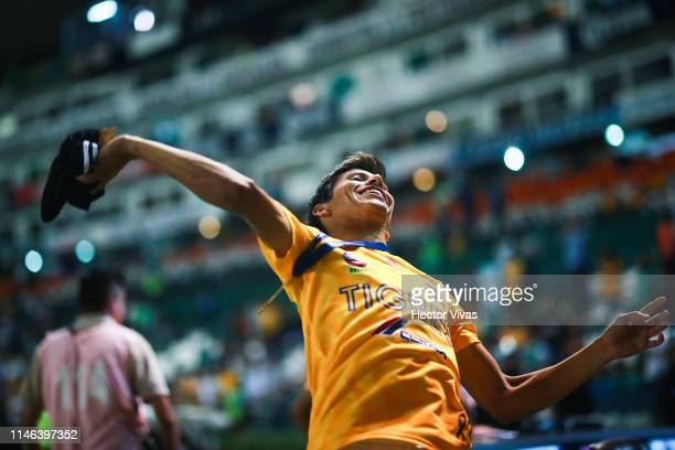 Jurgen Damm of Tigres celebrates during the final second leg match between Leon and Tigres UANL as part of the Torneo Clausura 2019 Liga MX at Leon...