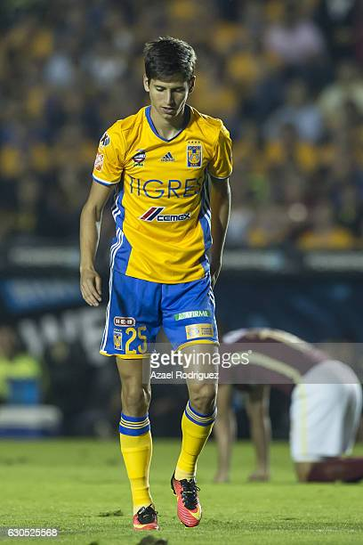 Jurgen Damm of Tigres reacts during the Final second leg match between Tigres UANL and America as part of the Torneo Apertura 2016 Liga MX at...