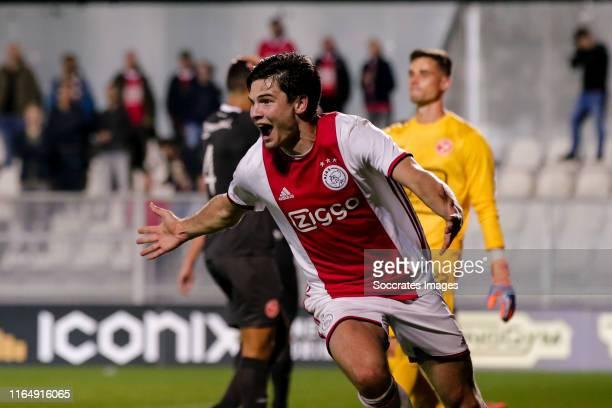 Jurgen Ekkelenkamp of Ajax U23, celebrate his goal the 3-2 during the Dutch Keuken Kampioen Divisie match between Ajax U23 v Almere City at the De...