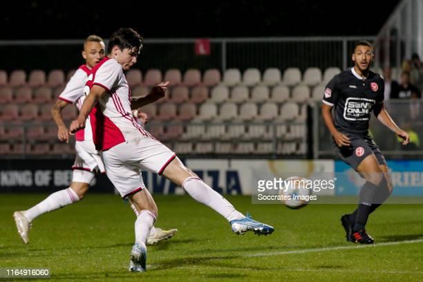 Jurgen Ekkelenkamp of Ajax U23, scores the fifth goal to make it 3-2 during the Dutch Keuken Kampioen Divisie match between Ajax U23 v Almere City at...