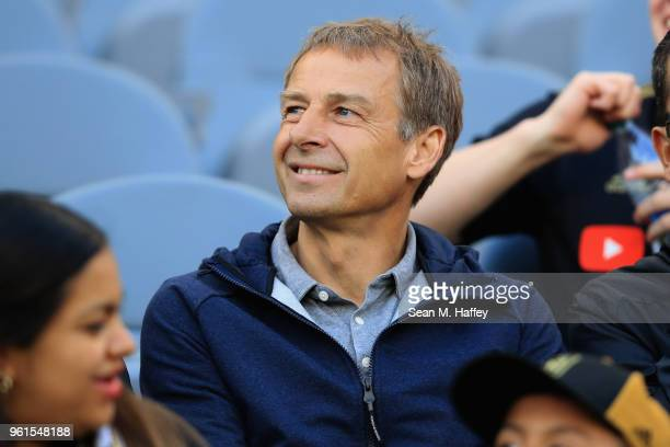Jurgen Klinsman looks on during the first half of an International friendly soccer match between Borussia Dortmund and Los Angeles FC at Banc of...