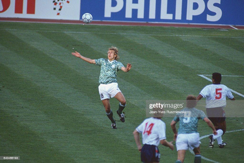 Jurgen Klinsmann in Action : News Photo
