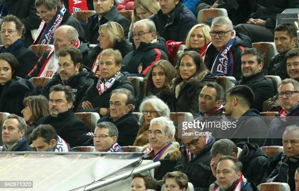 Jurgen Klinsmann his daughter Laila Klinsmann and his wife Debbie Chin Klinsmann Herve Mathoux below JeanLouis Triaud Youri Djorkaeff below Raymond...