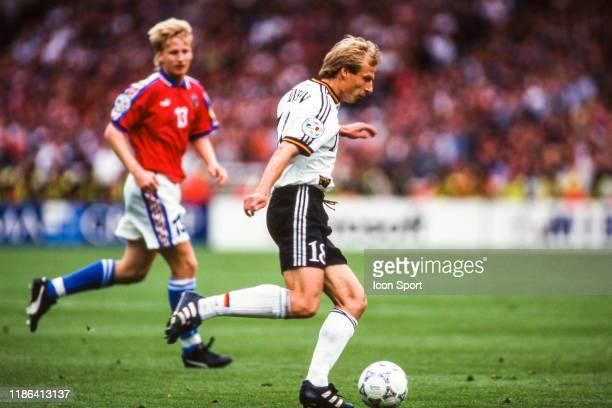 Jurgen Klinsmann of Germany during the European Championship final match between Germany and Czech Republic at Wembley Stadium Londres England on 30...